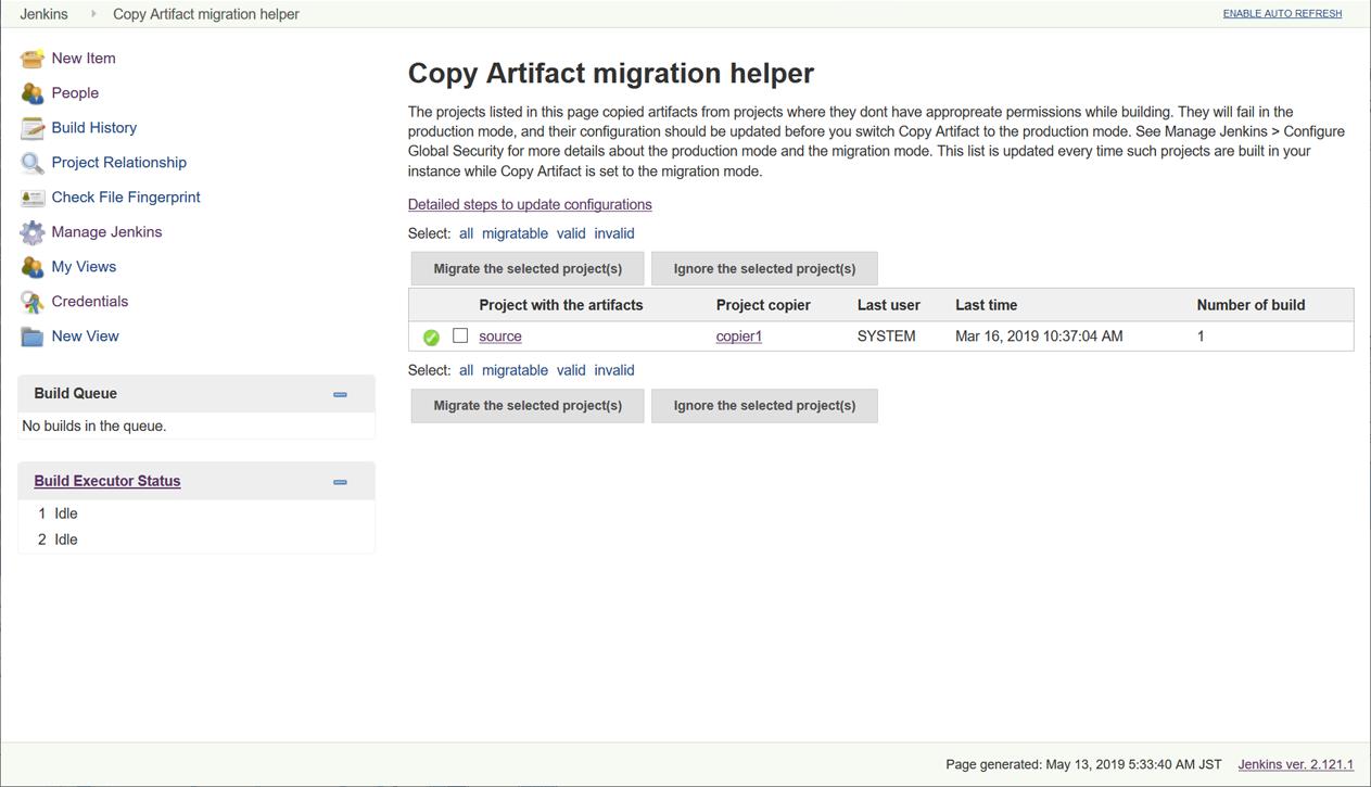 Migration helper