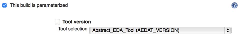 Tool Version Parameter Definition