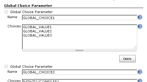 Global Choice Parameter in System Configuration