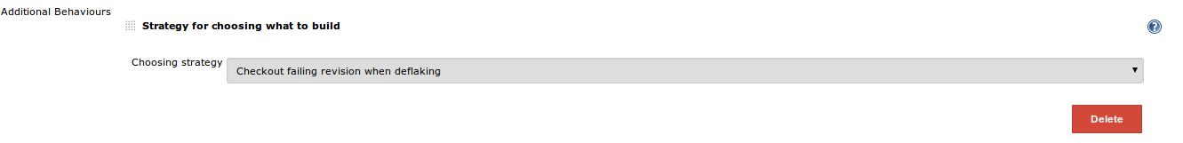 Deflake Checkout Configuration