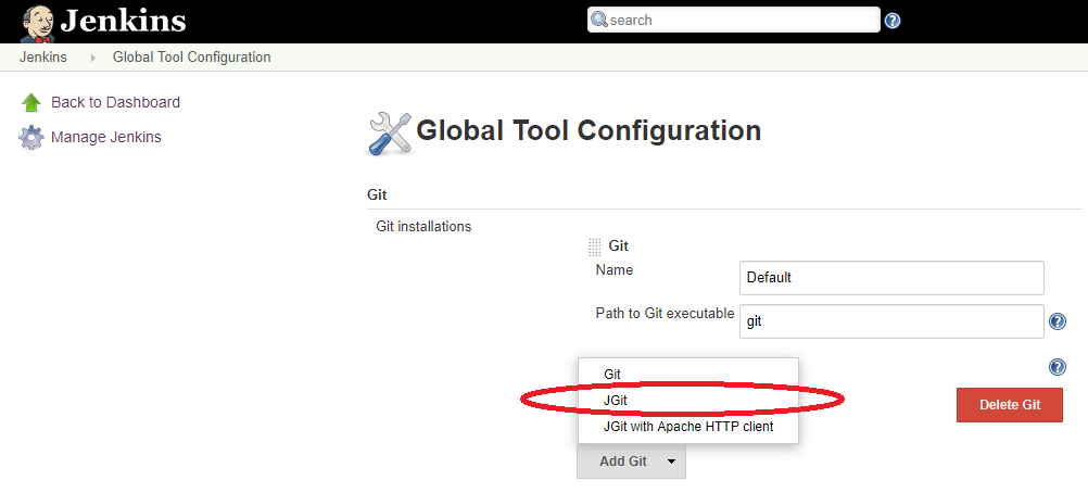 Enable JGit or JGit with Apache HTTP Client