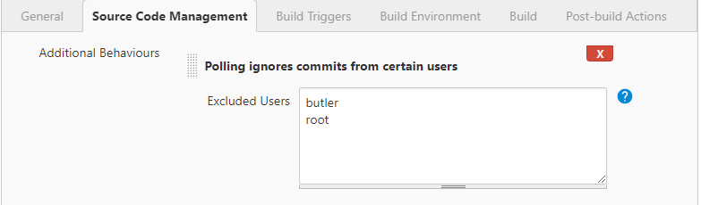 Polling ignores commits from certain users