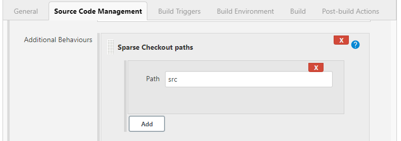 Sparse checkout paths