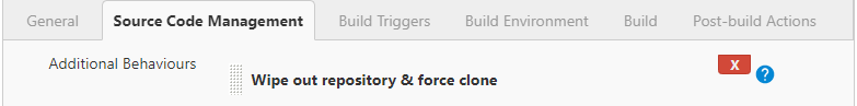 Wipe out repository and force clone