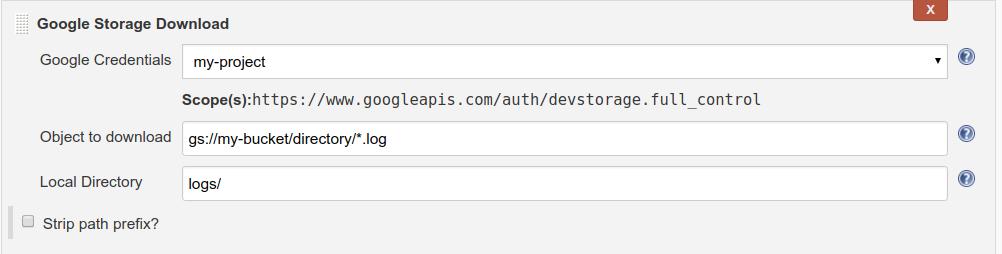 download build step