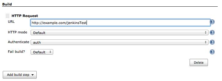 configure http request build step
