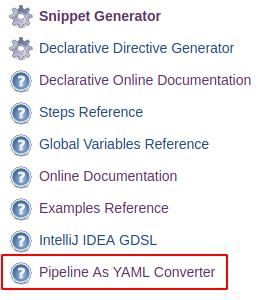 Pipeline As YAML Conveter