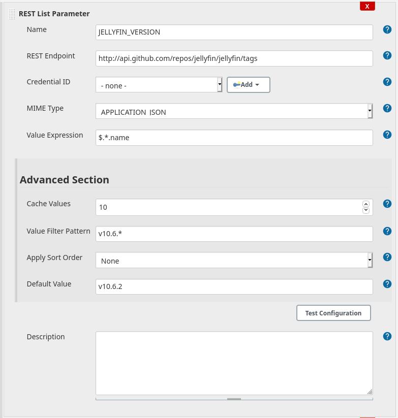 Parameter configuration (Advanced expanded)