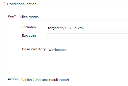 Only publish junit reports if we have some result files