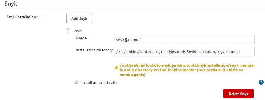 Snyk Installer Manual