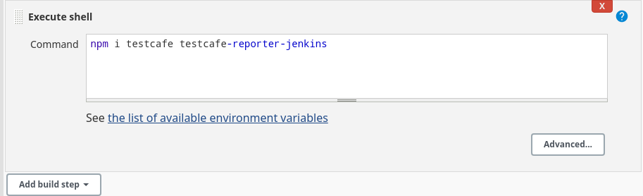 Install the TestCafe Jenkins reporter