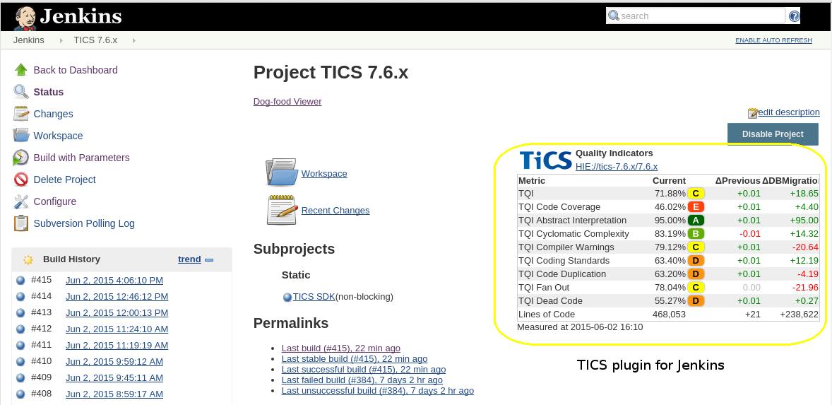 Jenkins-TICS-Plugin-Project