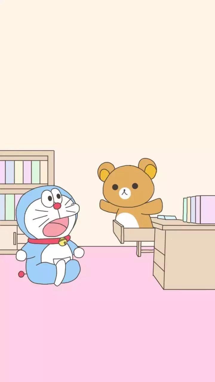 哆啦A梦壁纸:可爱哆啦A梦蓝胖子手机壁纸插图1