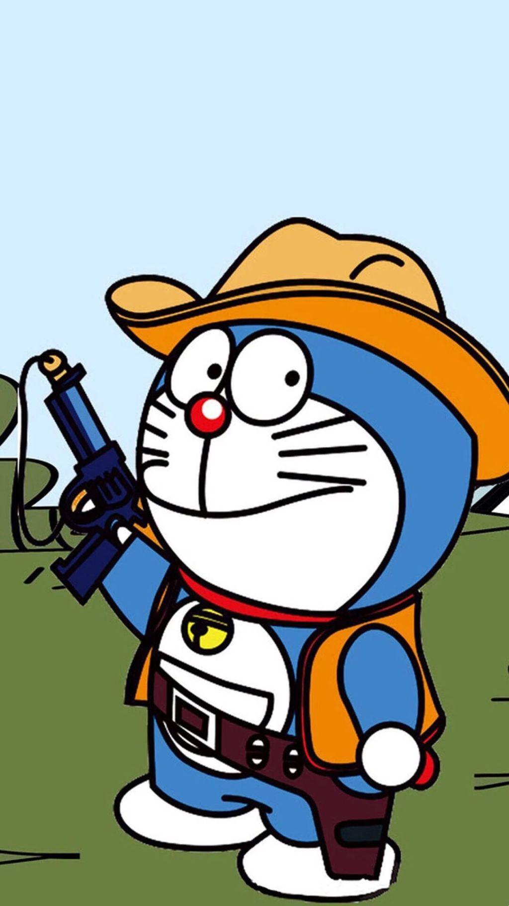 哆啦A梦壁纸:可爱哆啦A梦蓝胖子手机壁纸插图37