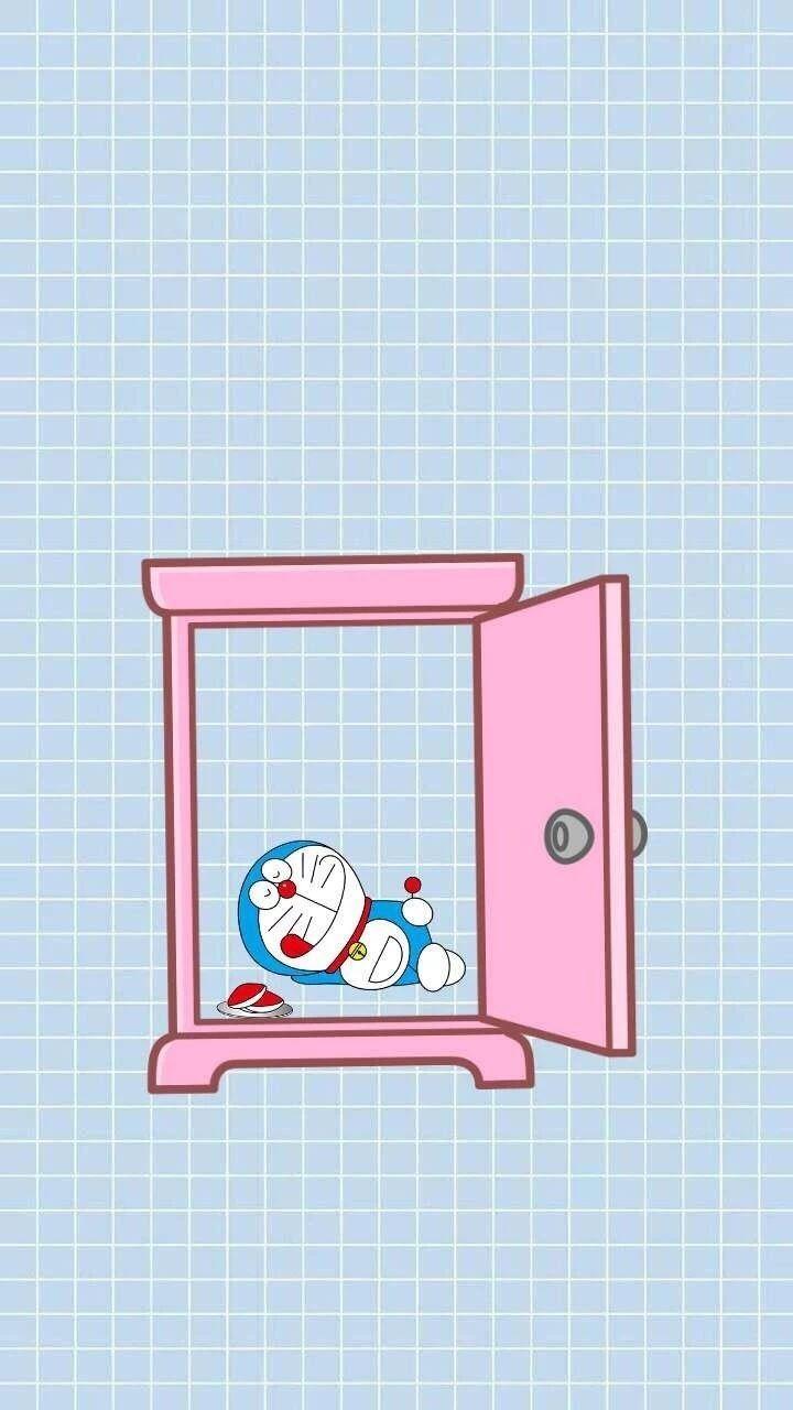 哆啦A梦壁纸:可爱哆啦A梦蓝胖子手机壁纸插图71