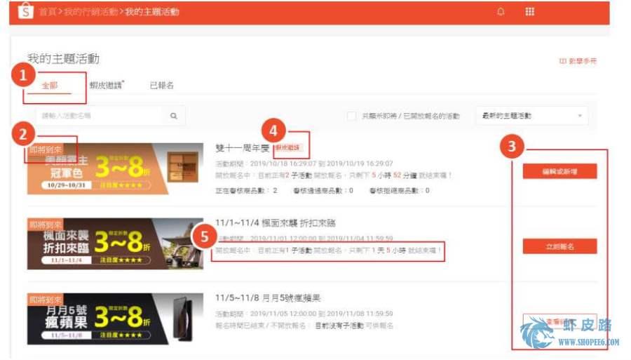 【Shopee我的主题活动】Shopee虾皮台湾站我的主题活动报名及问题解答-虾皮路