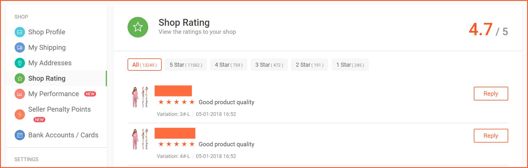 Shopee虾皮店铺完成订单后如何评价及遇到恶意差评的处理办法-虾皮路