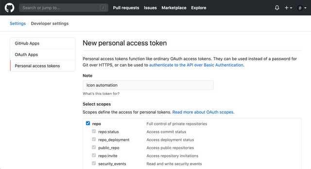 GitHub token 生成