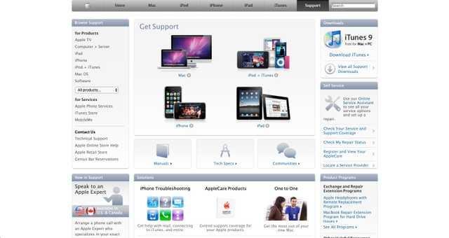 2010 年的 Apple.com