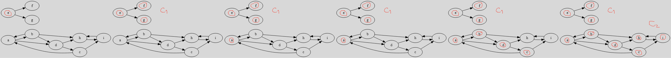 Example 1 - connected algorithm