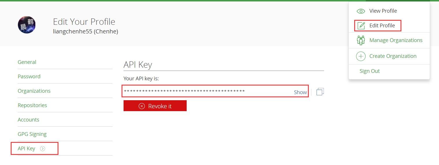 获取API Key