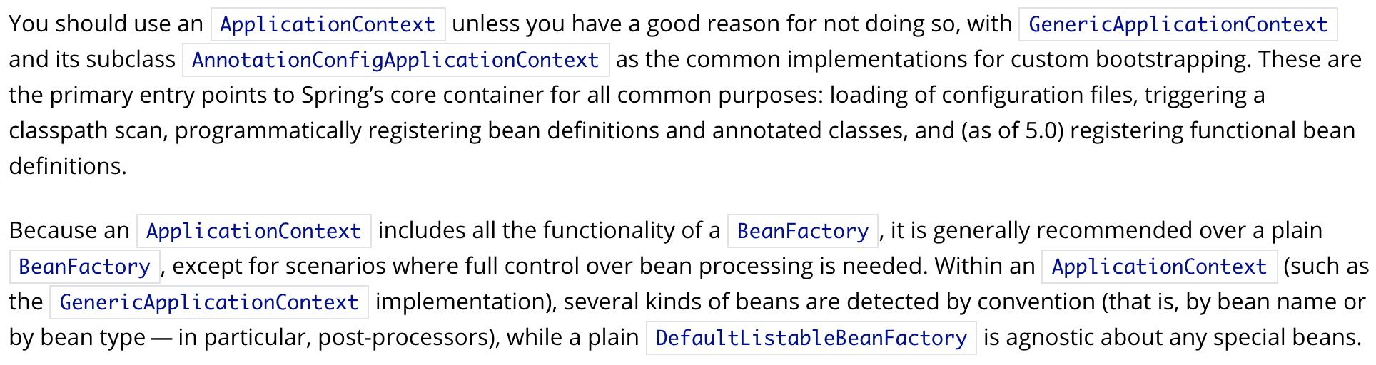 BeanFactory or ApplicationContext
