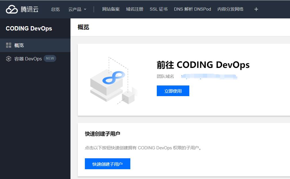 在云产品里搜索coding