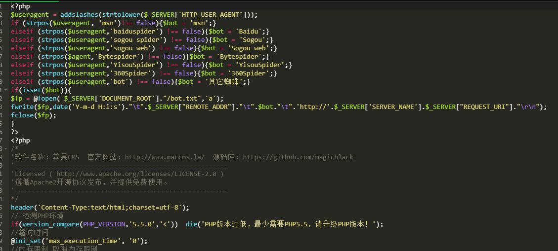 蜘蛛来访爬取链接详情记录导出TXT文件 PHP脚本