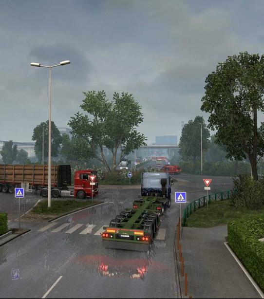 《欧洲卡车模拟2》逼真的游戏分享