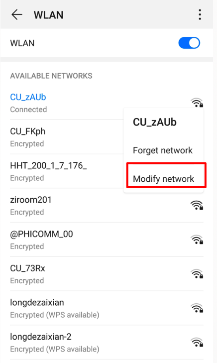 modify-network-android