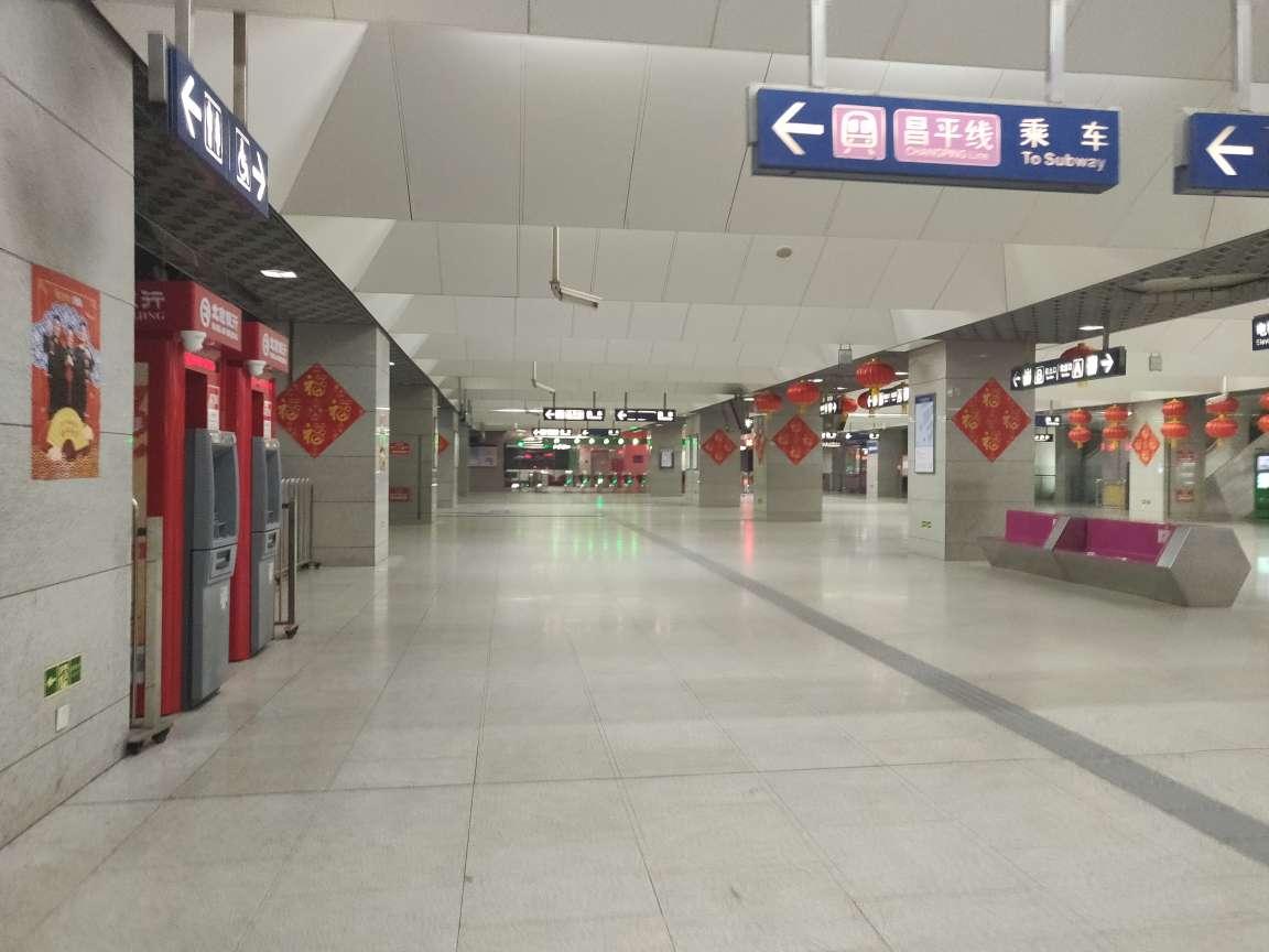 空荡的西二旗地铁站