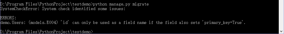 Django 学习笔记之使用旧数据库