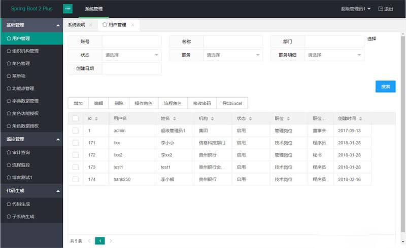 java SpringBoot2管理系统源码 一个基于SpringBoot2的管理后台系统 (https://www.8uc8.com/) 源码下载 第1张