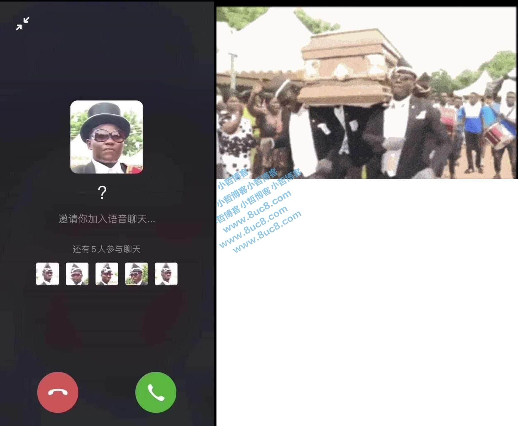 黑人抬棺正在邀请您语音通话网页HTML源码 (https://www.8uc8.com/) 源码下载 第1张