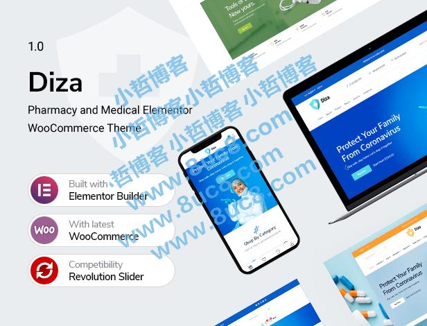 Diza-药房商店Elementor WooCommerce主题 (https://www.8uc8.com/) WordPress主题 第1张