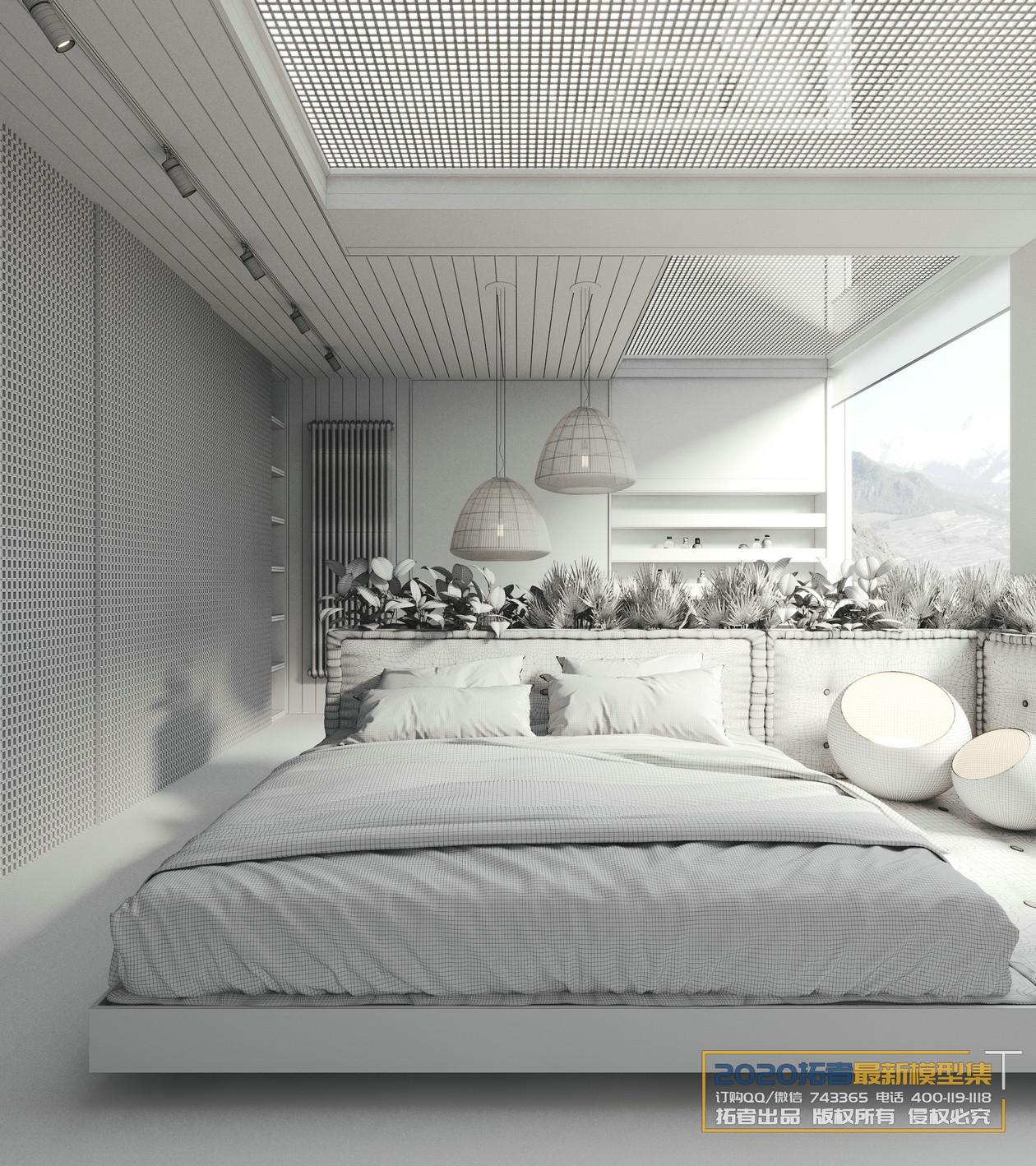 家装设计模型1000套模型,家装600套,工装400套,CR渲染教程,CR模型集