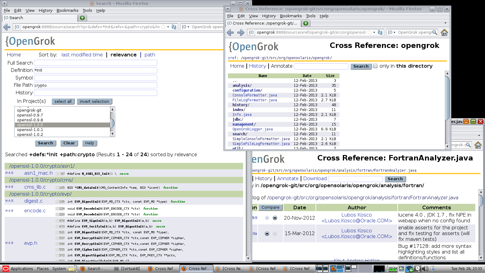 OpenGrok Search and Browse