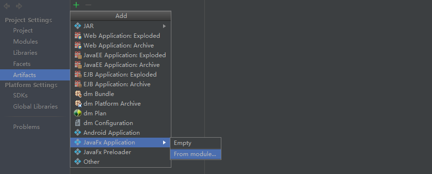 new JavaFX Application