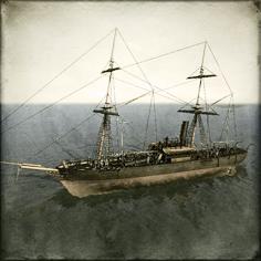 Boshin_Naval_Inf_Gun_Boat_Chiyodagata_torpedo Image