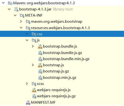 WebJars 引入 bootstrap