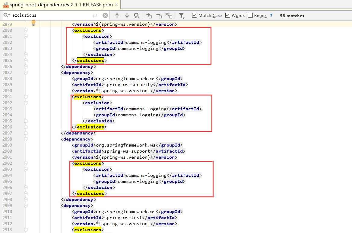 Spring Boot 排除其他日志框架
