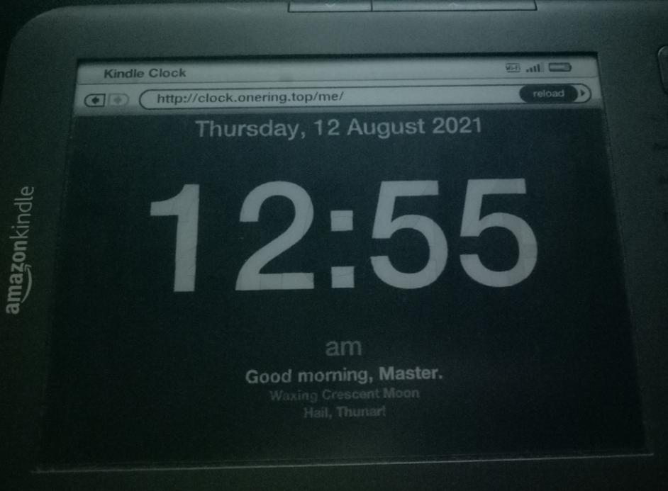 kc 1 - 整个Kindle时钟