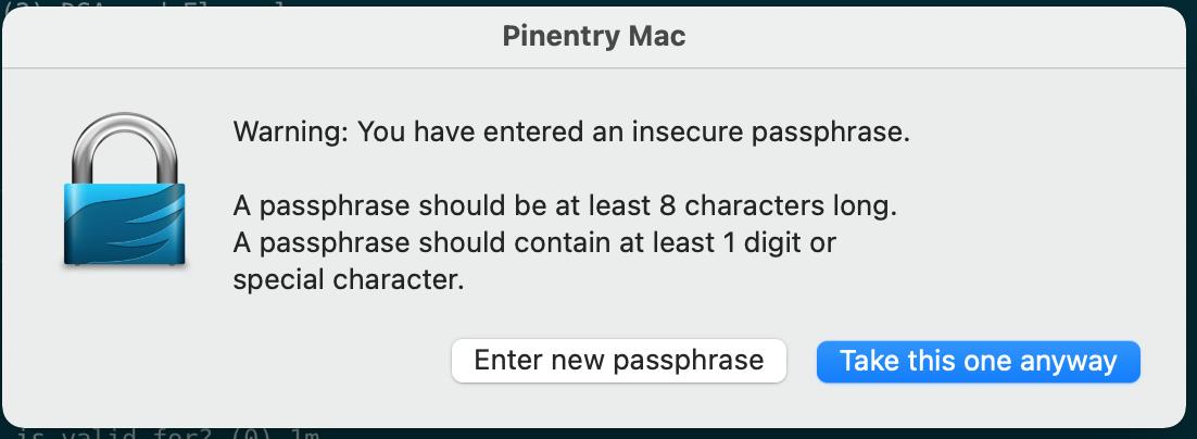 确认使用弱密码