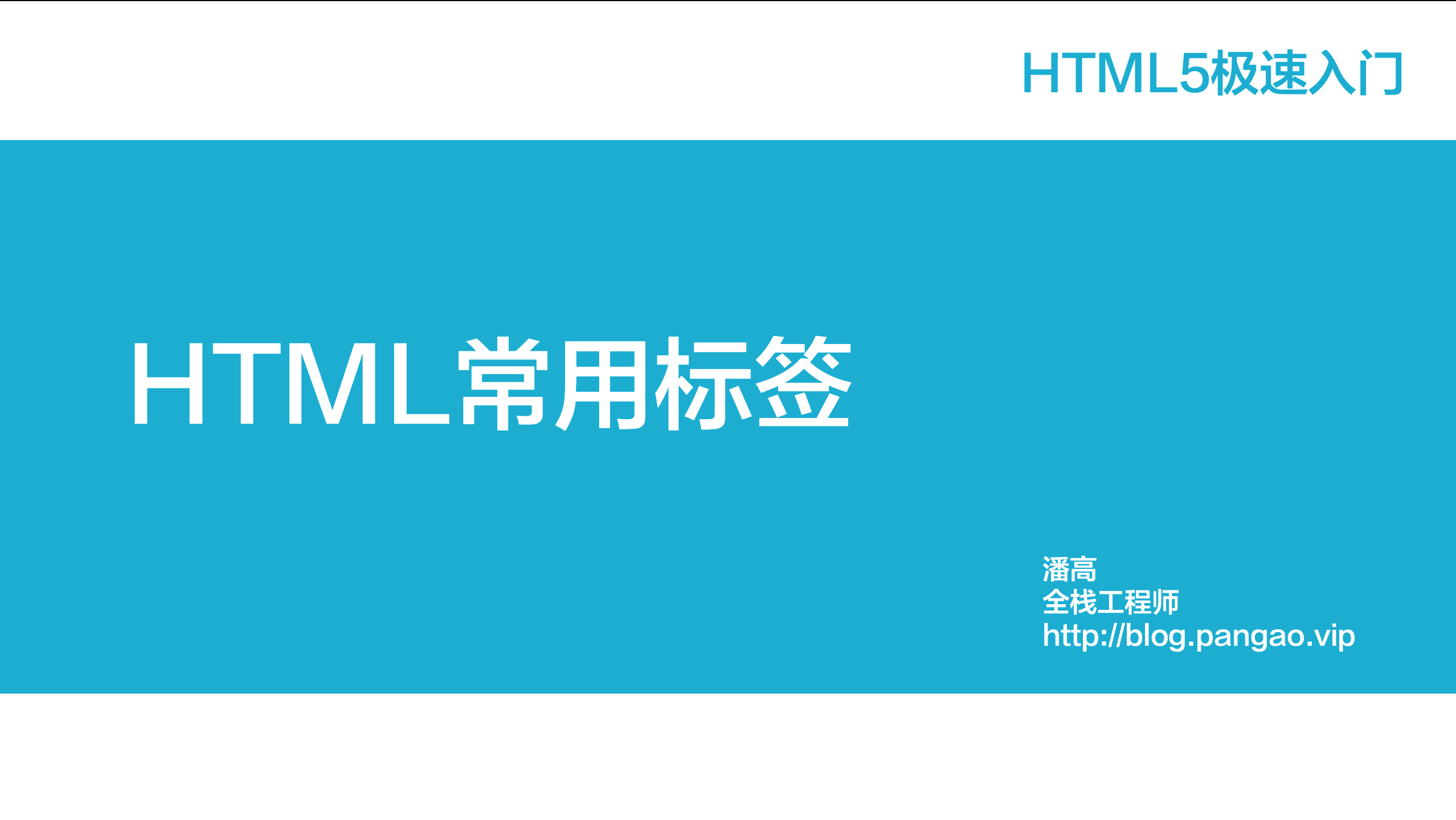 HTML5常用标签-HTML5极速入门