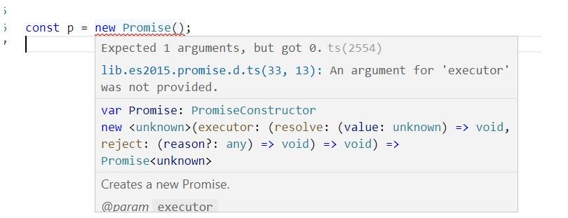 vscode Promise类型错误
