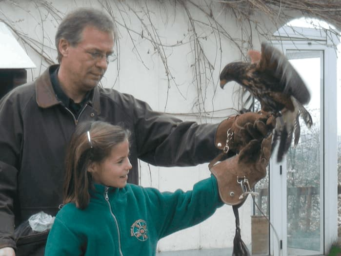 Student with Falcon (FISP)