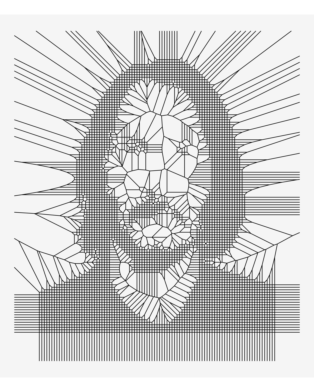 A voronoi portrait of Keanu Reeves