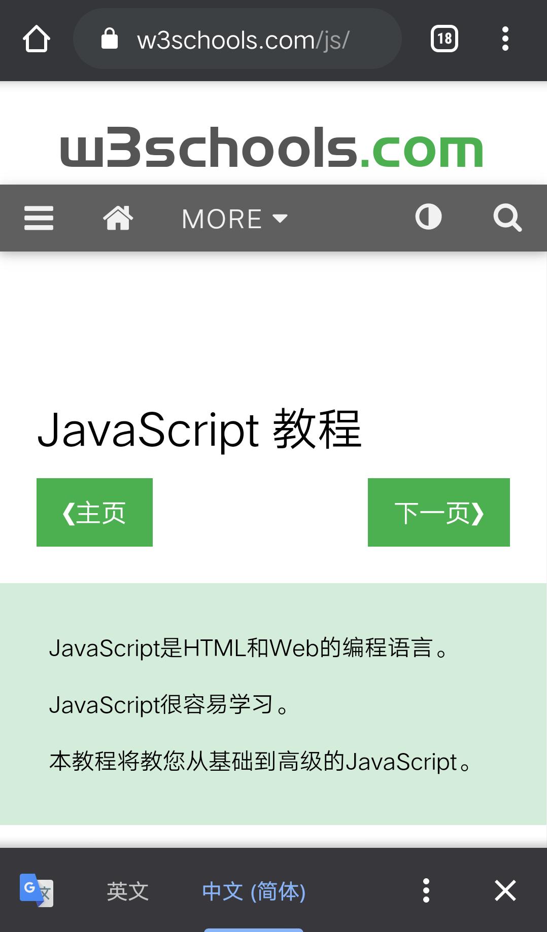 Google 翻译功能