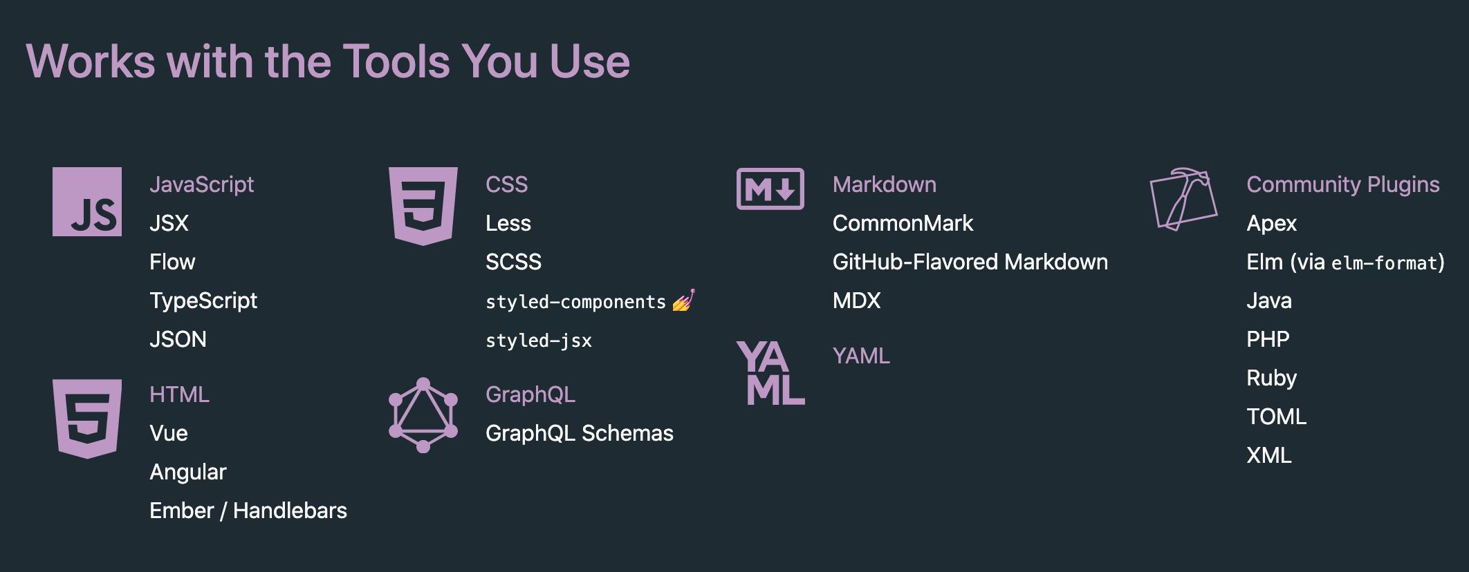 支持多种编程语言
