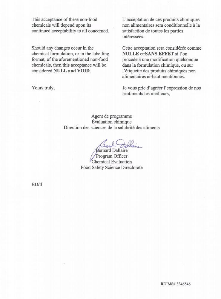 加拿大公司食品安全证书